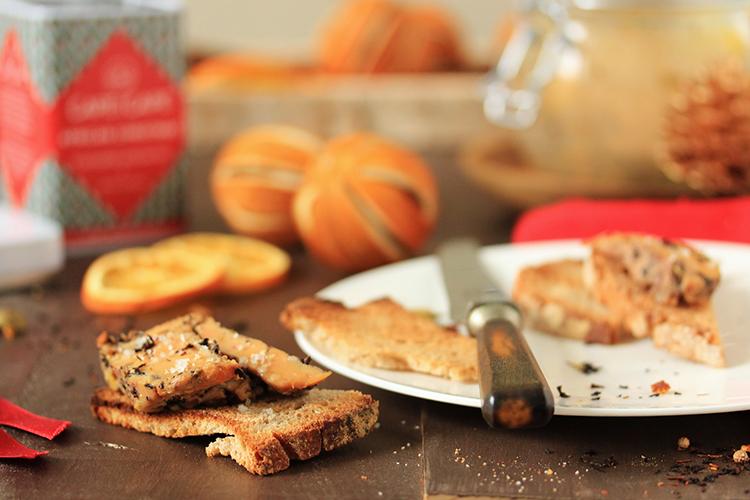 Terrine de foie gras à l'African Chiristmas